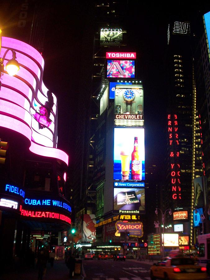 Times Square Photograph - Times Square 1 by Anita Burgermeister