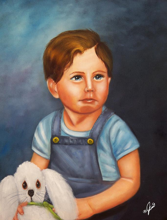Portraits Painting - Timmy And Fluffy by Joni McPherson