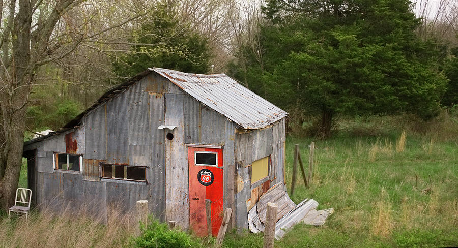 Tin Phillips 66 Shed Photograph