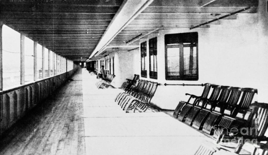 1912 Photograph - Titanic: Promenade Deck by Granger