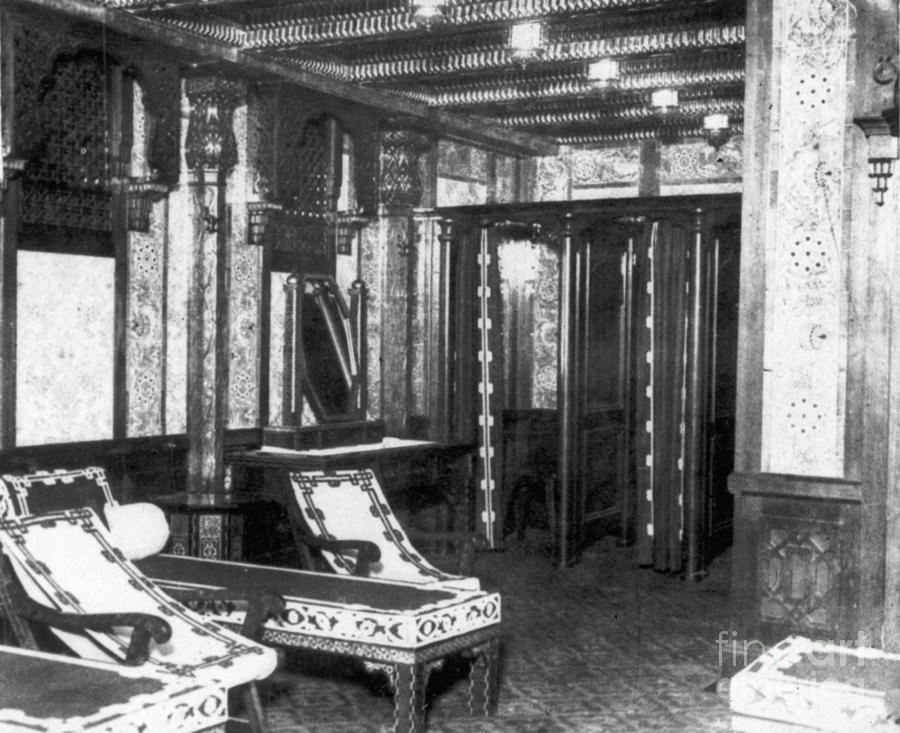 1912 Photograph - Titanic: Turkish Bath, 1912 by Granger