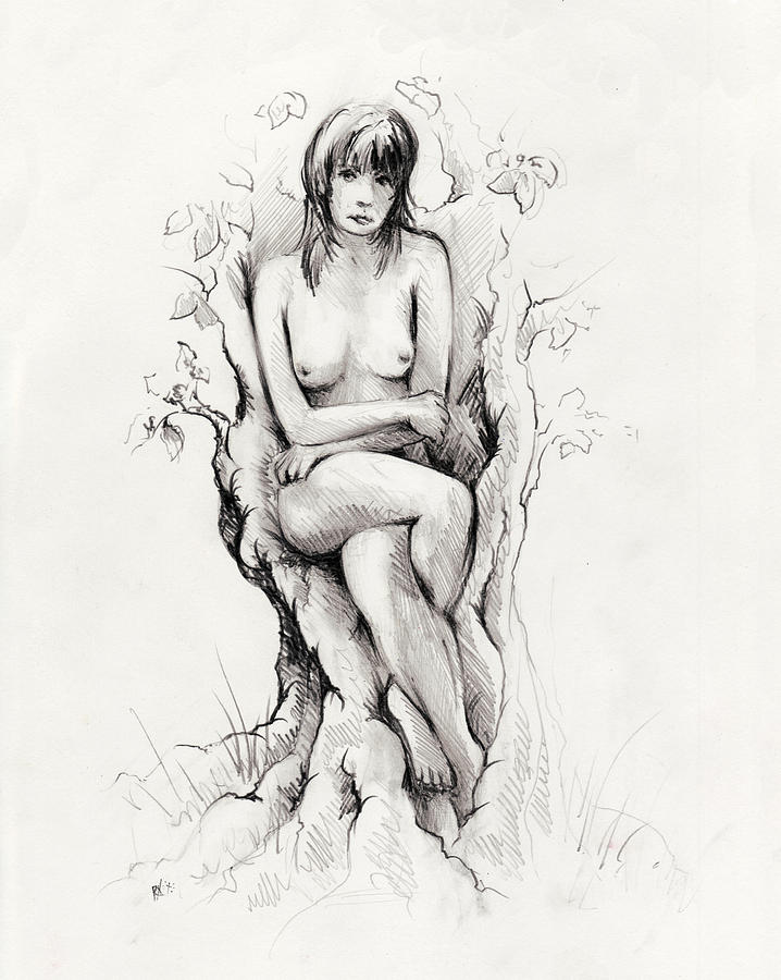 Figure Drawing - To Remain by Rachel Christine Nowicki