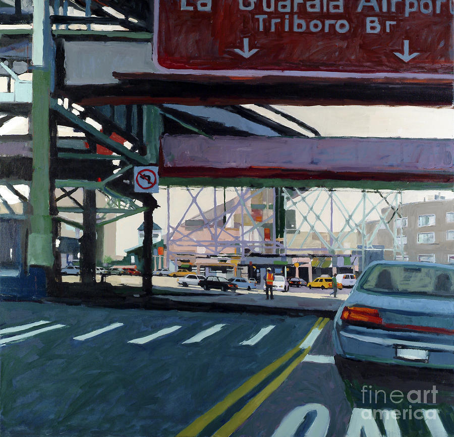 Urban Painting - To The Triboro by Patti Mollica