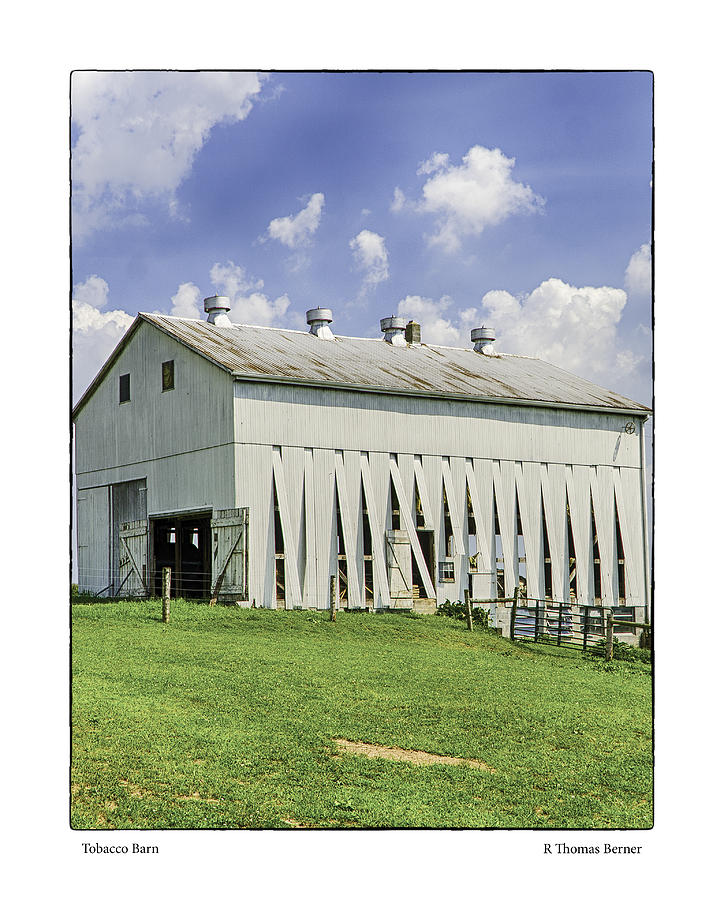 Tobacco barn photograph by r thomas berner for Tobacco barn house plans