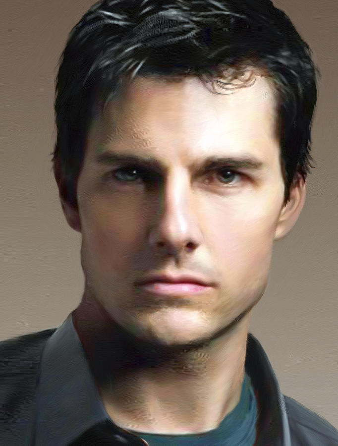 Male Painting - Tom Cruise by Dominique Amendola
