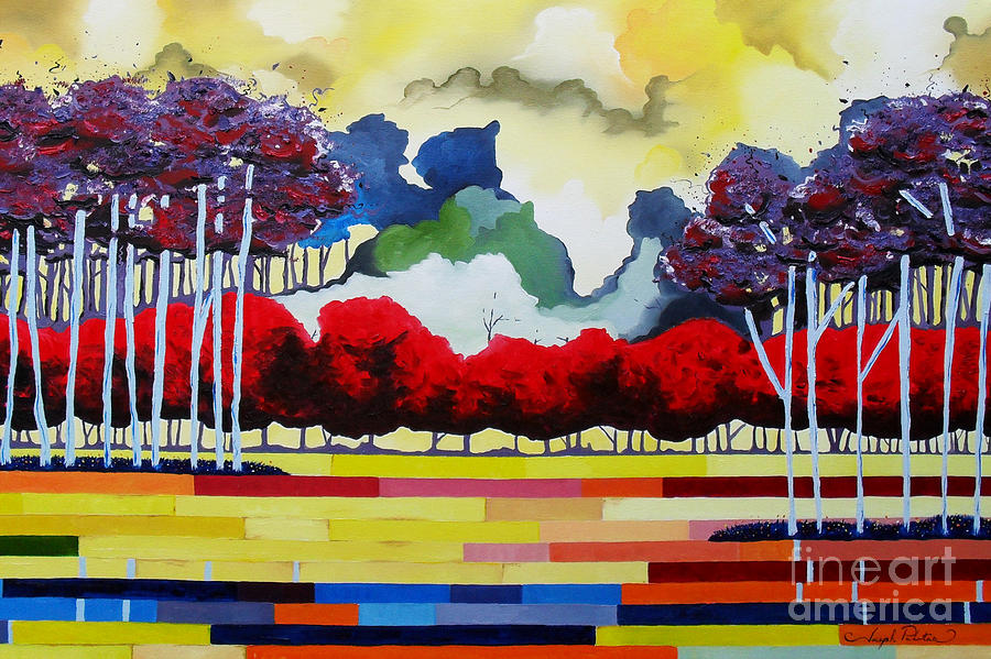 Landscape Painting - Tomorrows Yesterday  by Joseph Palotas