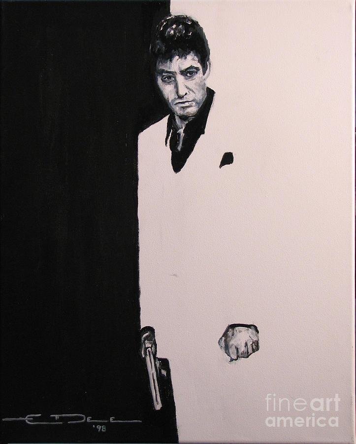 Al Pacino Painting - Tony Montana - Scarface by Eric Dee