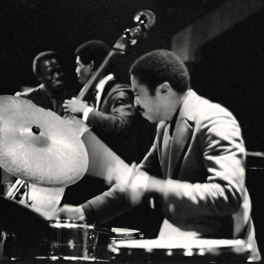 Tony Williams With The Miles Davis Quintet Photograph By