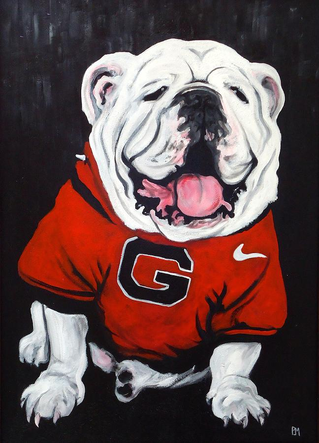 Bulldog Painting - Top Dawg by Pete Maier