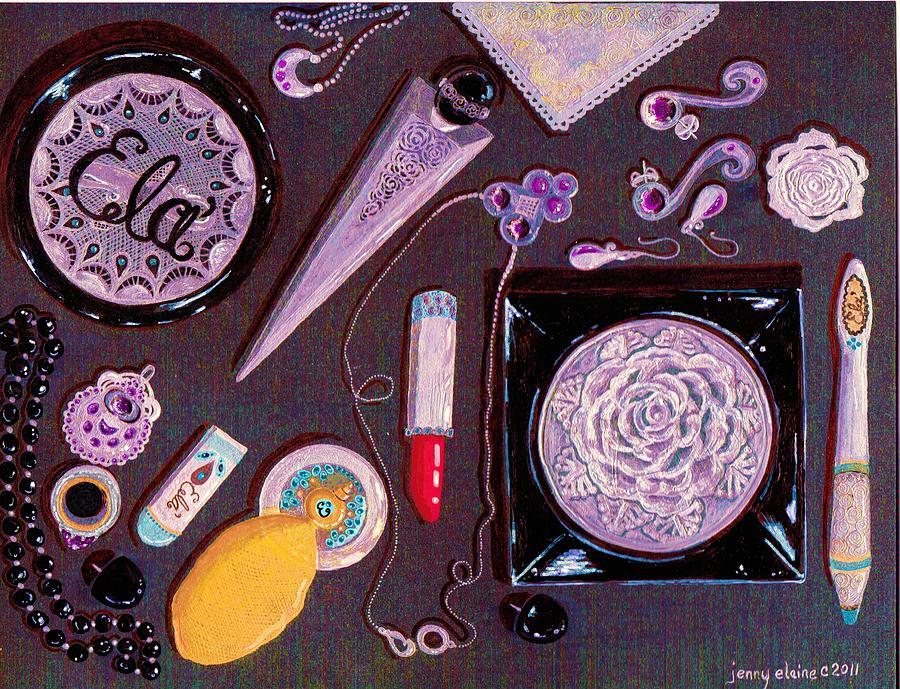 Vanity Painting - Top Of My Vanity by Jenny Elaine