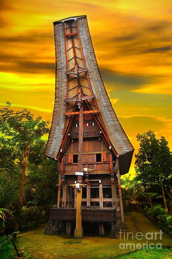 Toraja Photograph - Toraja Architecture by Charuhas Images