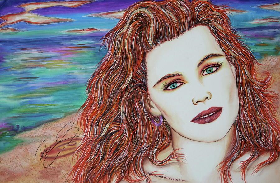 Belinda Carsile Mixed Media - Tori Sees Red by Joseph Lawrence Vasile