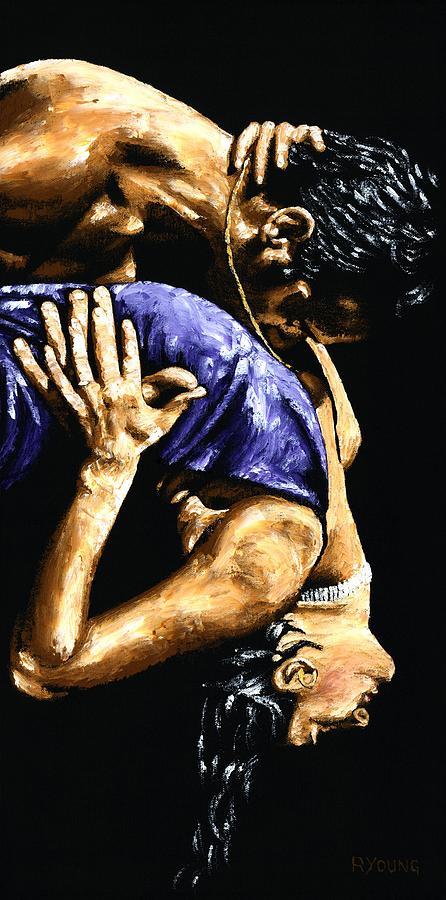 Tango Painting - Torrid Tango by Richard Young