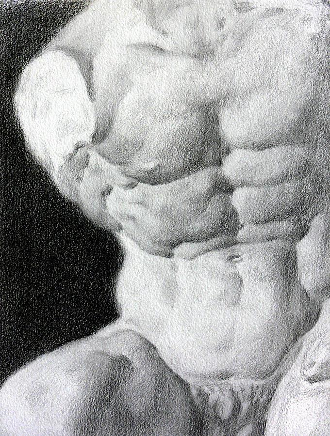 Nude Drawing - Torso 1a by Valeriy Mavlo