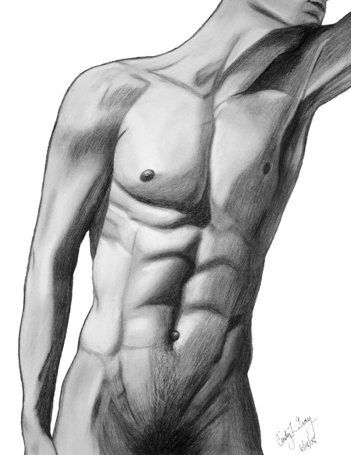 Рисунок Обнаженного Мужчину Карандашом