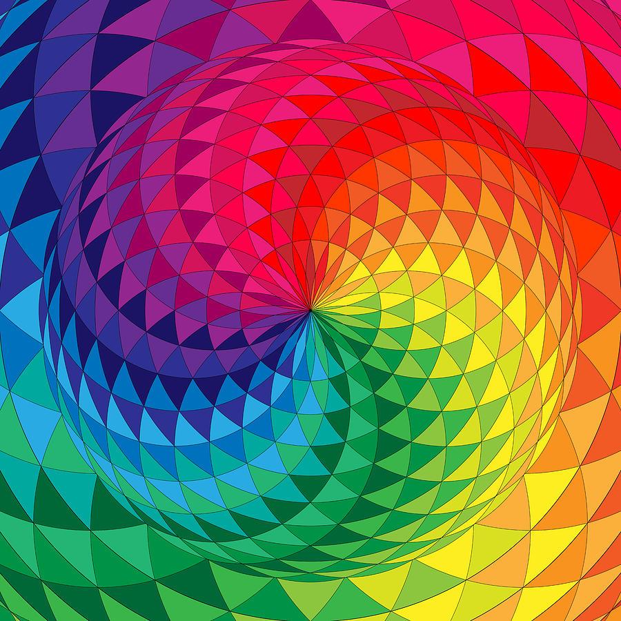 Torus Yantra Full Color Spectrum Digital Art By Sharalee Art