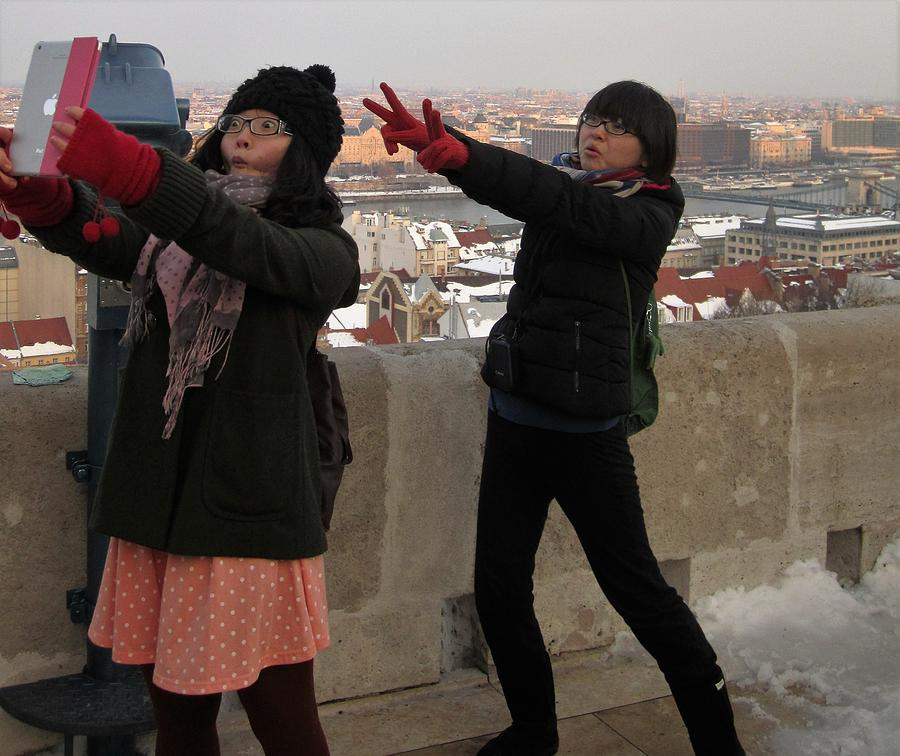 Tourists In Budapest Photograph