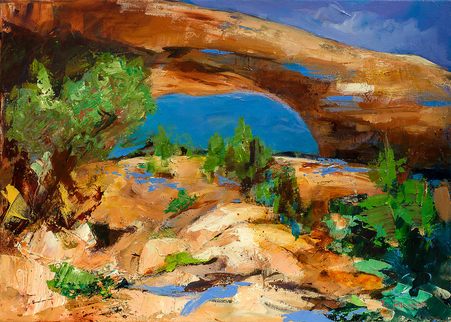Toward The Arch Painting