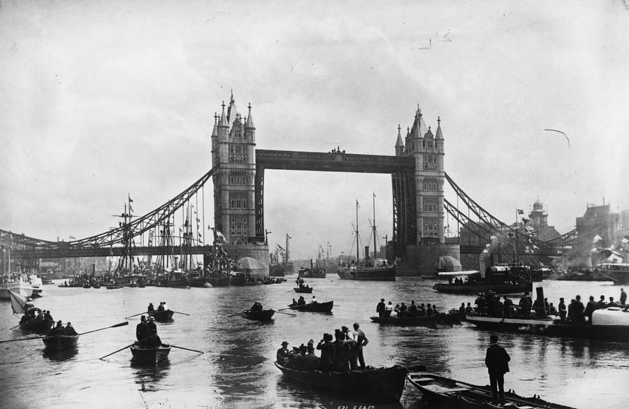 Adult Photograph - Tower Bridge by Francis Frith & Co