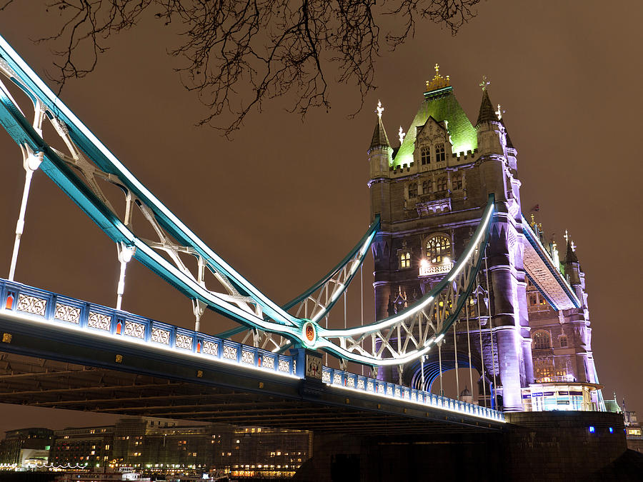 Bridge Photograph - Tower Bridge Lights by Rae Tucker