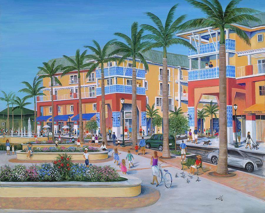 Town Center Abacoa Jupiter Painting