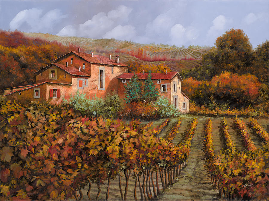 tra le vigne a Montalcino Painting