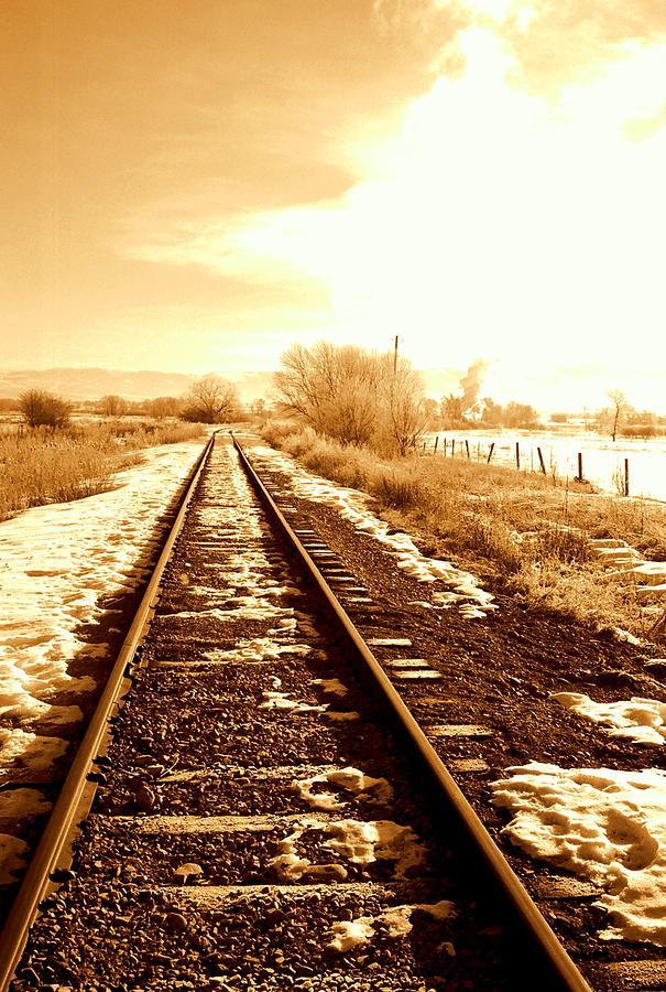 Railroad Photograph - Tracks by Caroline Clark