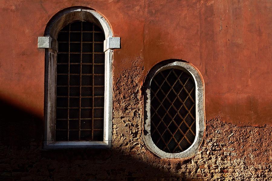 Traditional Venetian Windows Photograph