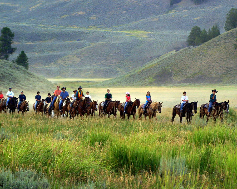 Trail Ride Photograph - Trail Ride by Marty Koch