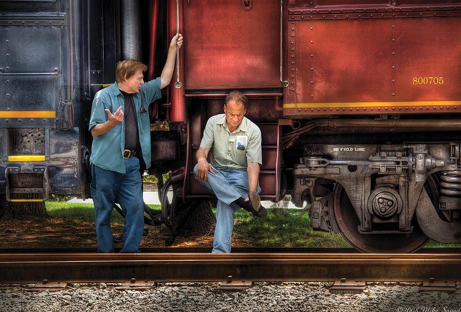 Train - Yard - Shootin The Breeze Photograph