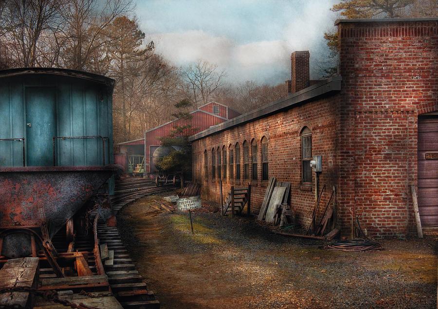 Savad Photograph - Train - Yard - The Train Yard by Mike Savad