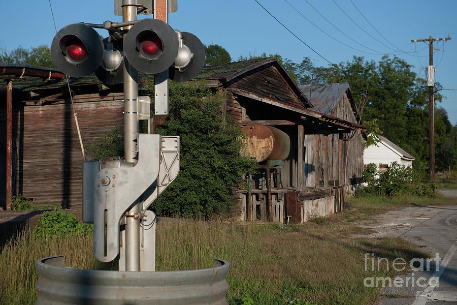 Train Crossing Light Photograph