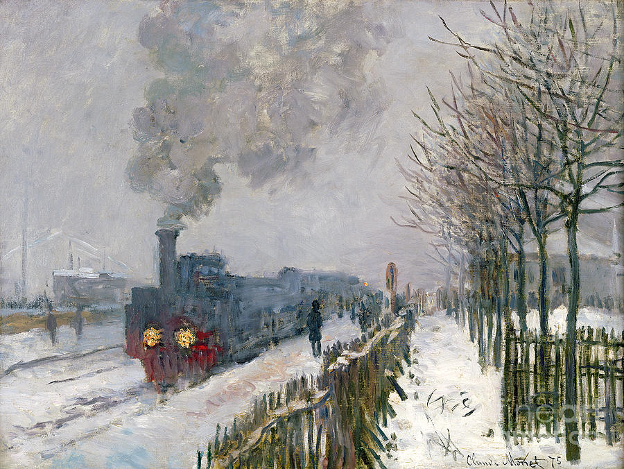 Train Painting - Train In The Snow Or The Locomotive by Claude Monet