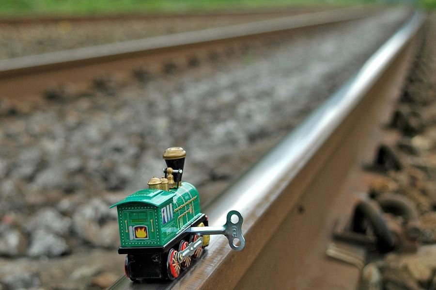 Train Photograph - Train On Tracks by Bill Kellett