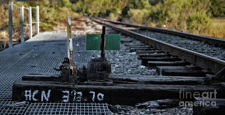 Train Tracks Lever Photograph