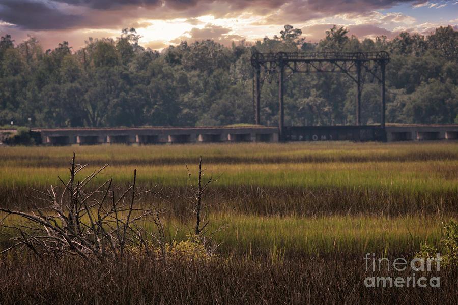 Train Trestle Over Rantowles Creek Photograph