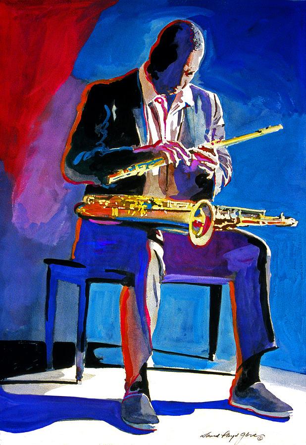Coltrane Painting - Trane - John Coltrane by David Lloyd Glover
