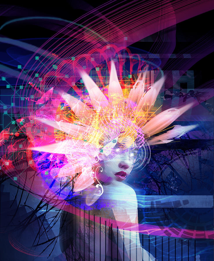 Woman Mixed Media - Transcendance by Philip Straub