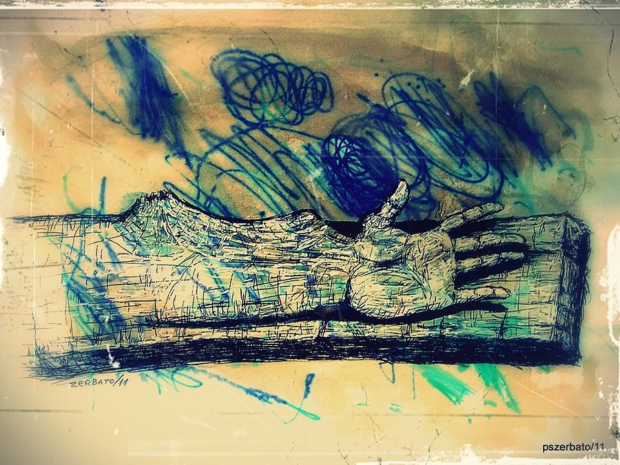 Transform Digital Art - Transforming A Piece Of Wood In Man by Paulo Zerbato
