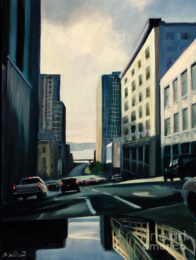 Store Painting - Travelers by Barbara Wilson