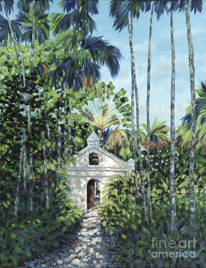 Fisher Island Painting - Travelers Path by Danielle  Perry