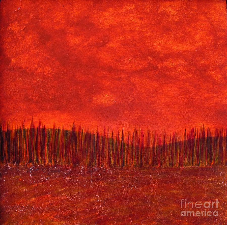 Tree Painting - Tread Lightly.   by Jeanne Wood