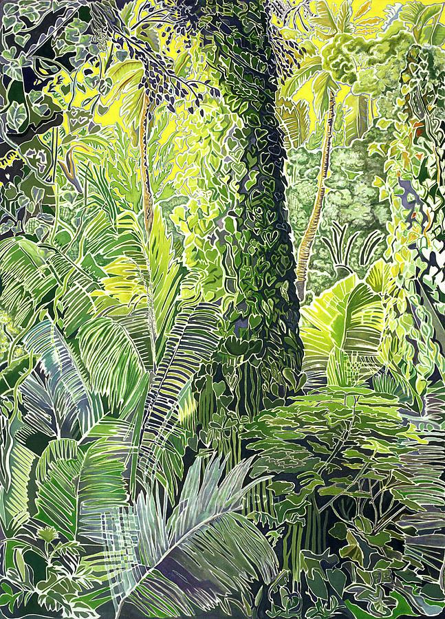 Tree In Garden Painting