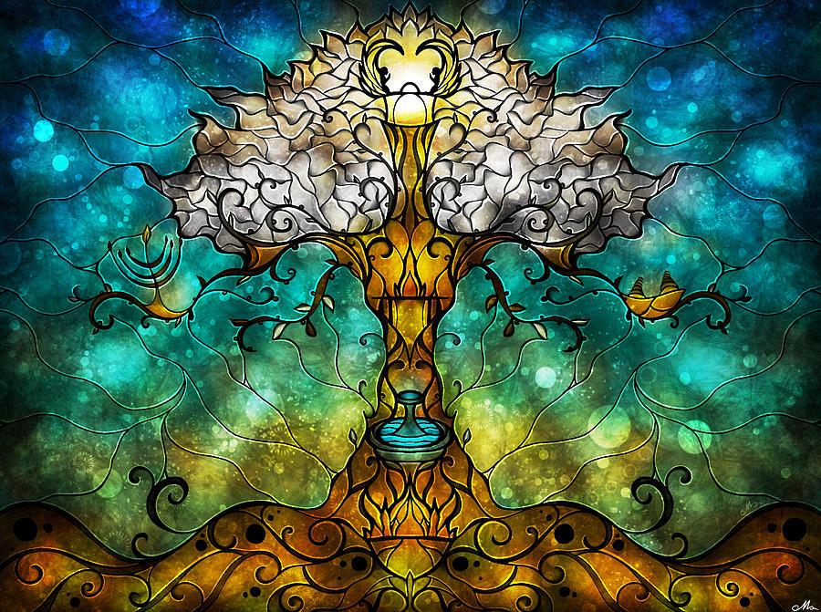 Tree Digital Art - Tree Of Life by Mandie Manzano