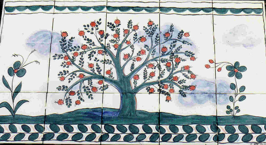 Tree Of Life Painting - Tree Of Life--portuguese Folk Art Style by Dy Witt