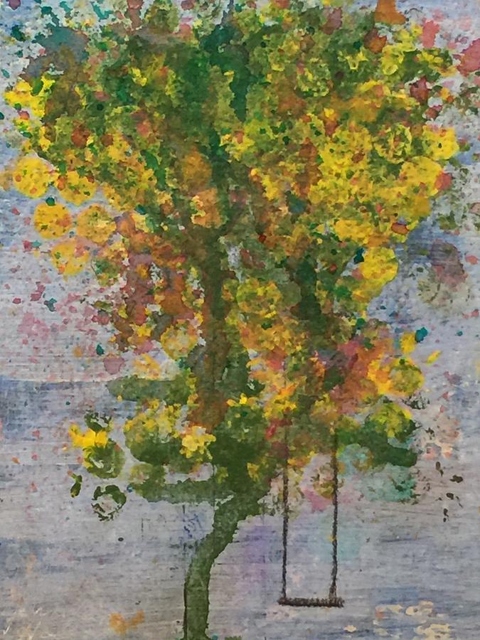 Tree Swing Painting by Jennifer Hoeft