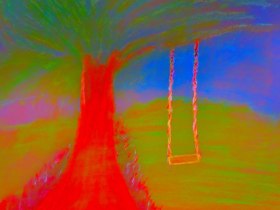 Tree Swing Painting by Stephanie Zelaya
