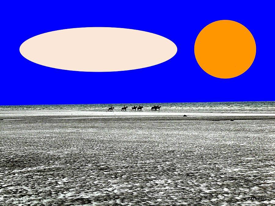 Horses Painting - Trekking by Patrick J Murphy