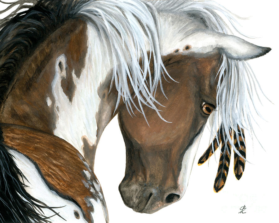 Tri Colored Pinto Horse Painting By Amylyn Bihrle