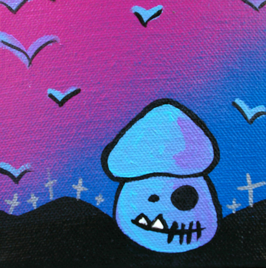 Zombie Mixed Media - Tricky Zombie Mushroom by Jera Sky